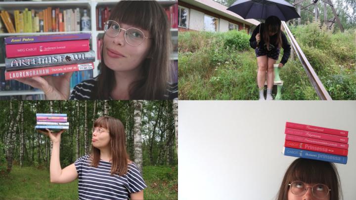 Yhteensä 15 videota: Heinäkuu oli suuri lukuvlogikuukausi!
