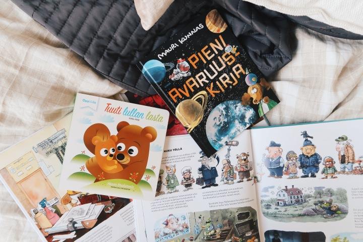 Nämä kirjat meidän vauvalle on hankittu etukäteen + viisi lastenkirjaa, jotka haluaisin omaanhyllyyni